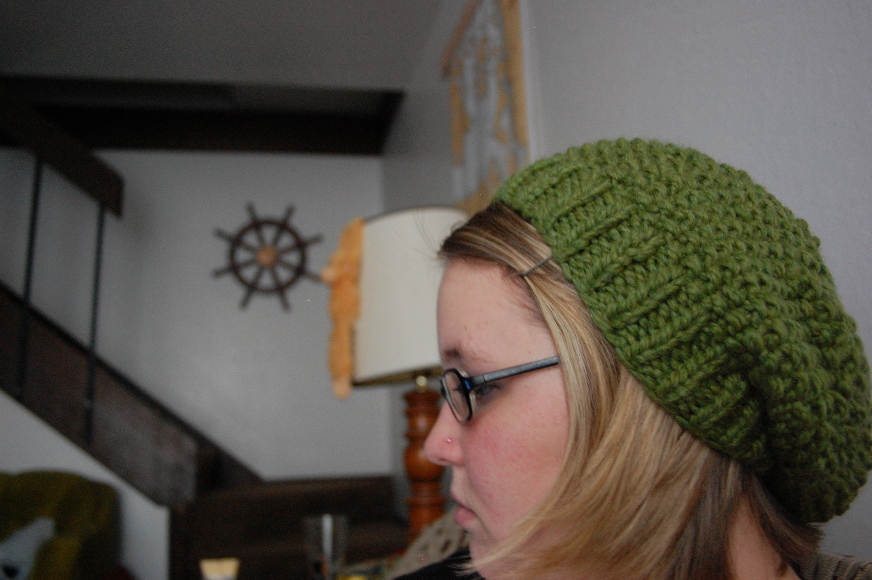 Double Seed Stitch Knitting In The Round : Lemon grass hat knittybutton