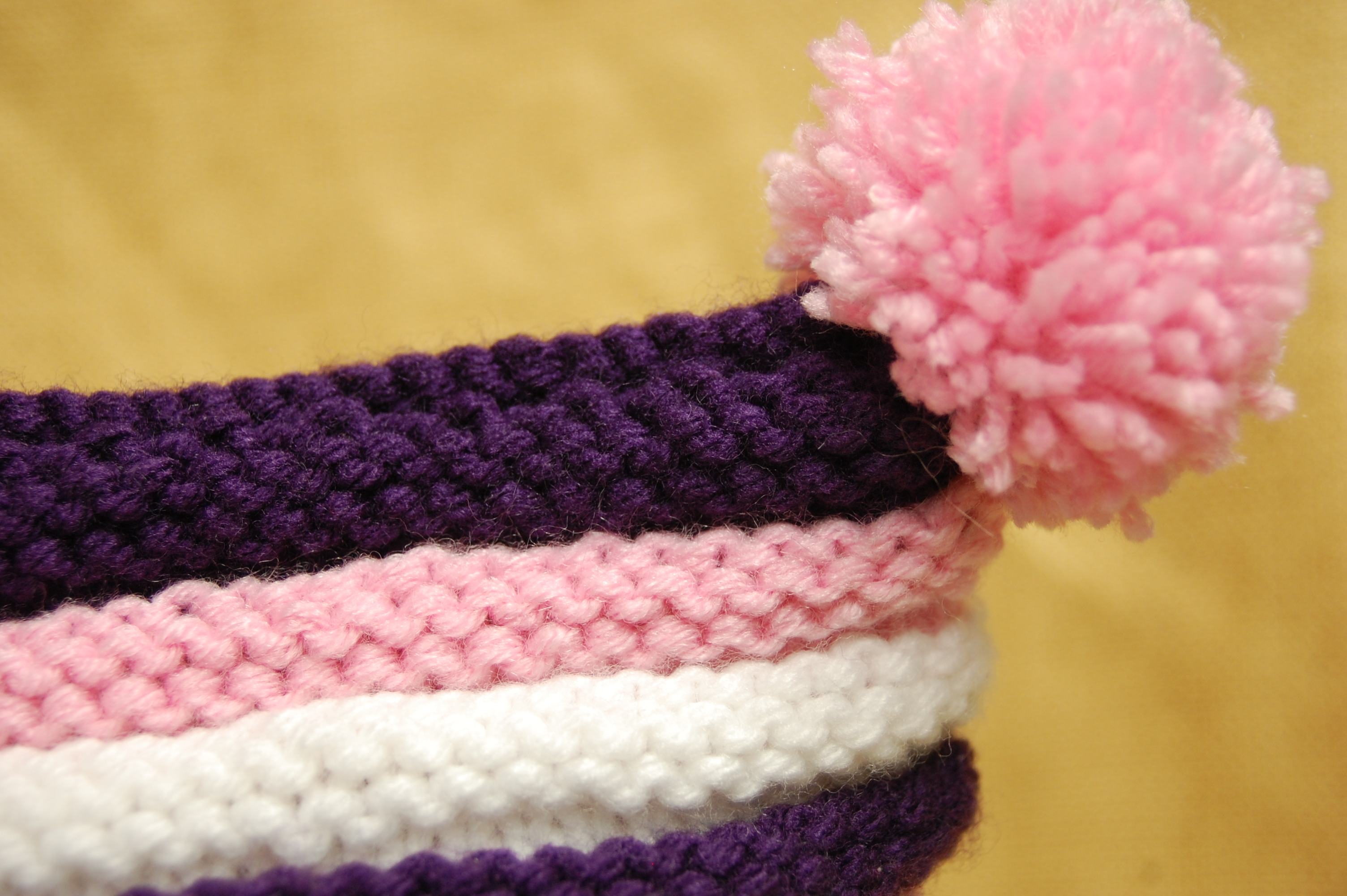 Double Pom-pom Baby Hat | Knittybutton