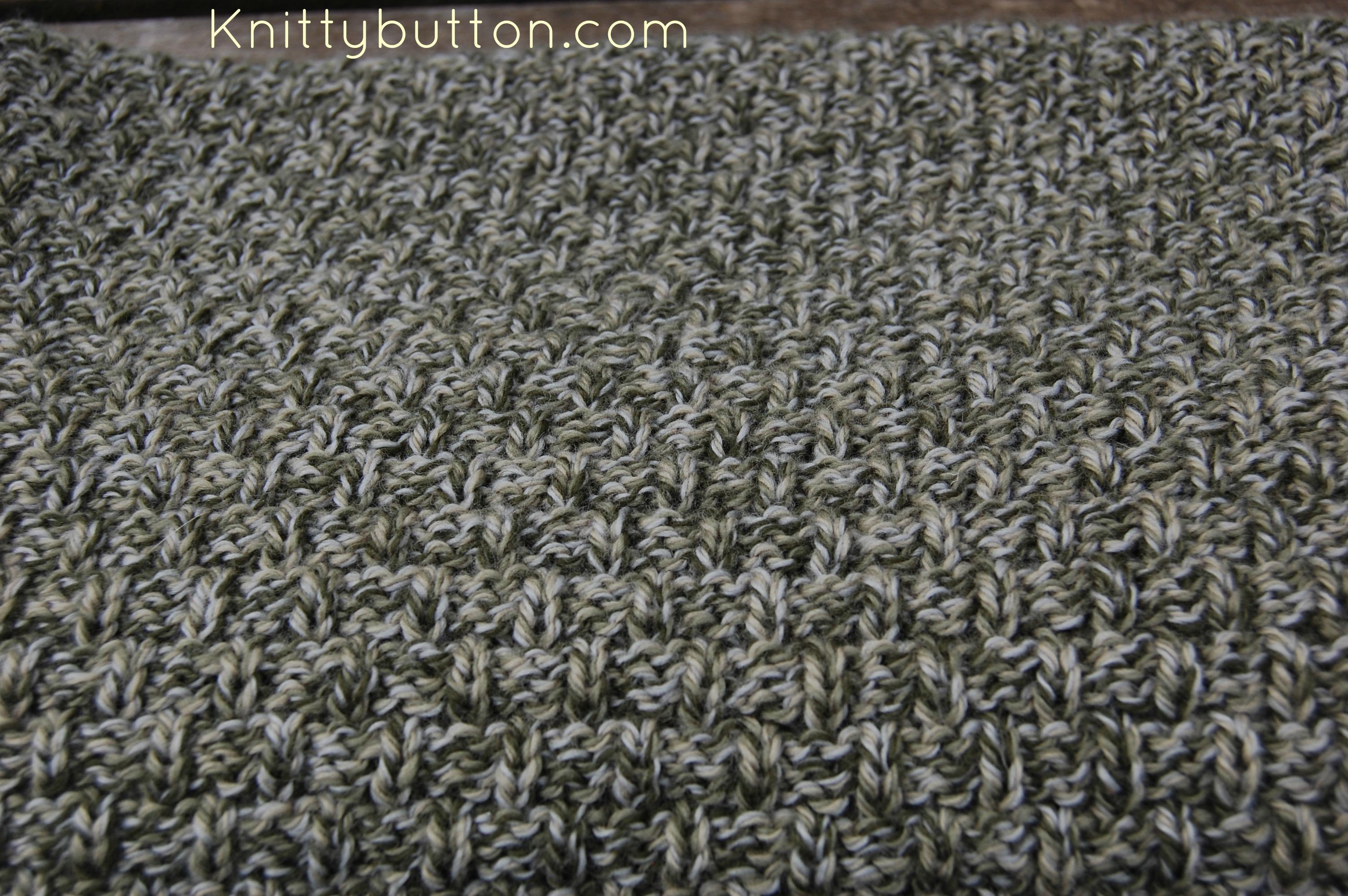 Fisherman S Weave Blanket Knittybutton