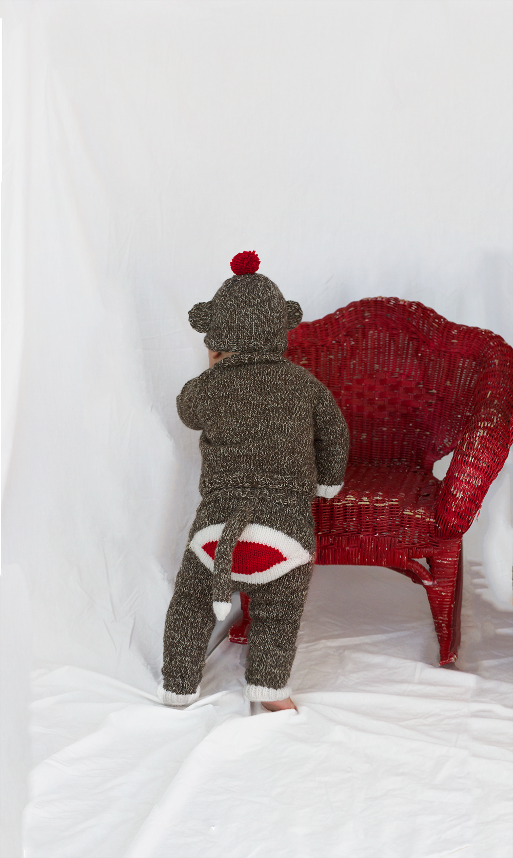 Knitting Patterns For Sock Monkey Clothes : Hand Knit Sock Monkey Costume Knittybutton
